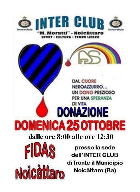 Noicattaro. Donazione Fidas Ottobre 2015 intero
