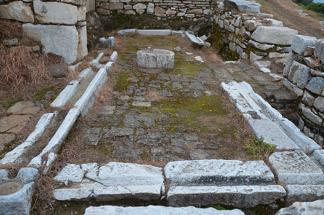 The rectangular latrines of the gymnasium, Metropolis, Ionia, Turkey