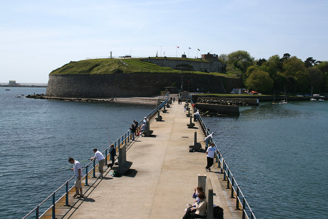 Nothe Fort from South Pier, Weymouth