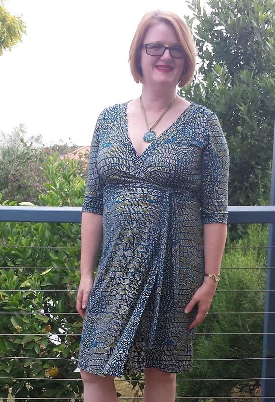 Cashmerette Appleton dress in viscose/lycra from The Cloth Shop
