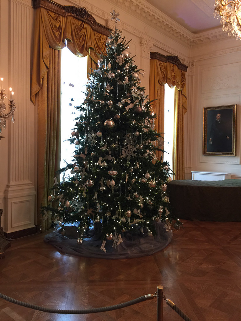 Christmas trees on White House Tour