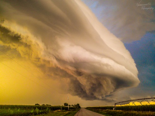 080711 - Nebraska Supercell / Arcus / Shelf Cloud! (Remastered)