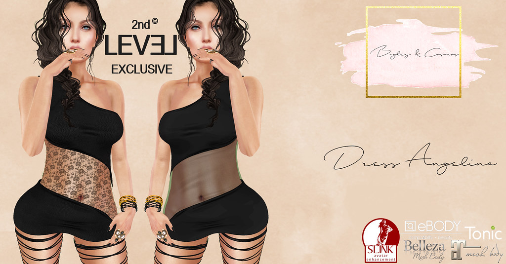 B&C Maitreya Dress Angelina-blackpackEXCLUSIVE - SecondLifeHub.com
