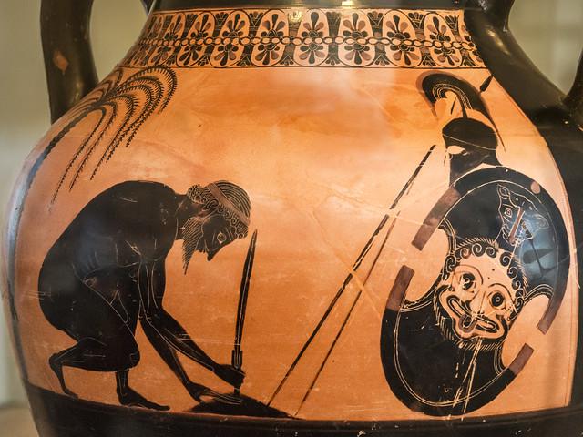 Aithiopis X – Ajax Suicide by Exekias