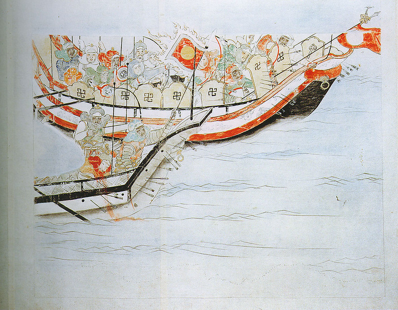 Copy of 1292 work showing The Mongol invasion in Japan, by Fukuda Taika