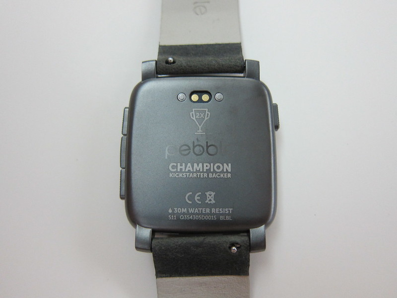 Pebble Time Steel Watch - Back