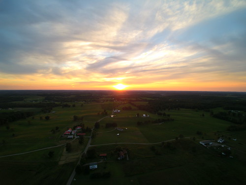 sunset ohio august uav q500 yuneec