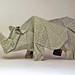 INDIAN RHINO 2 by Origami Roman