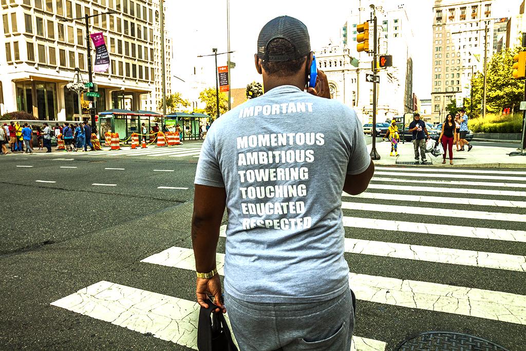 T-shirt with IMPORTANT MOMENTOUS etc--Center City