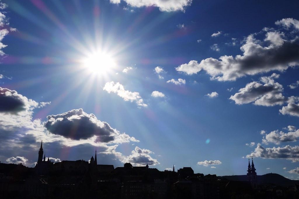 Sun over Buda Hill