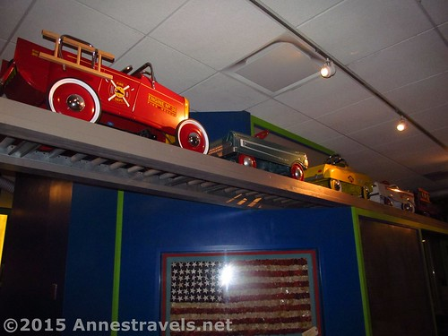 Antique toys on display upstairs at the Strong National Museum of Play, Rochester, New York