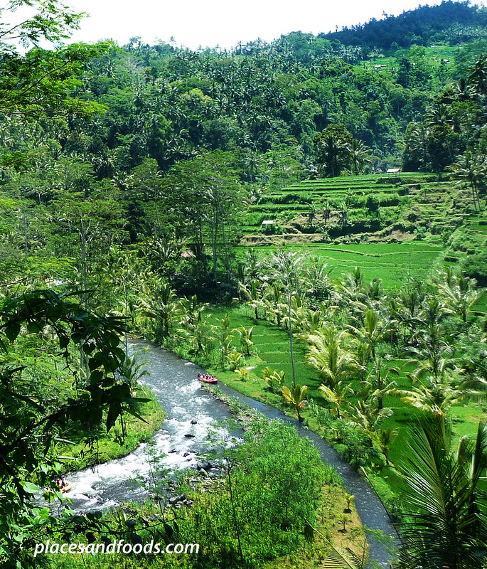 telaga raja river white river rafting top view