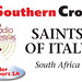 "Fowler Tours posted a photo:	The bus sign for the Southern Cross/Radio Veritas ""Saints of Italy Pilgrimage"" in September 2015, organised by Fowler Tours.www.fowlertours.co.za"