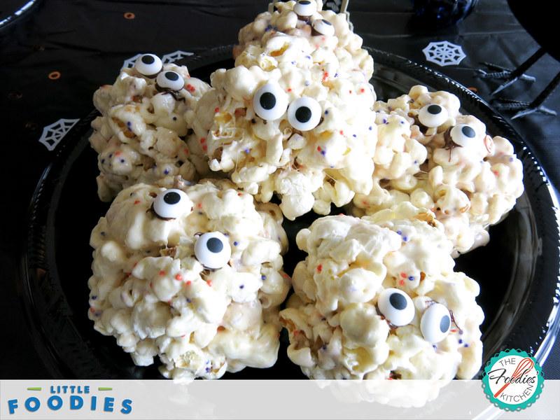 Kids Recipe: Popcorn Ball Monsters