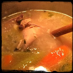 #Homemade #Chicken #Stock #CucinaDelloZio - let 'er simmer