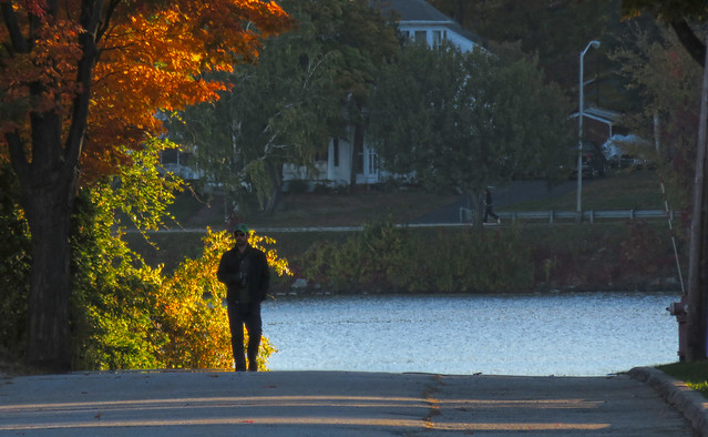 Greg at Lake Quannapowitt in October; Wakefield, MA (2015)