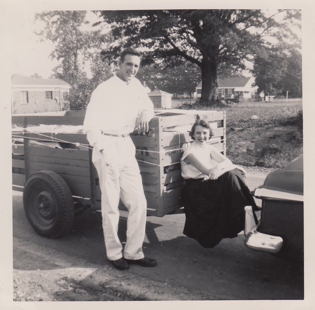 Heading to their first home in Spartanburg, SC; Sept. 1953