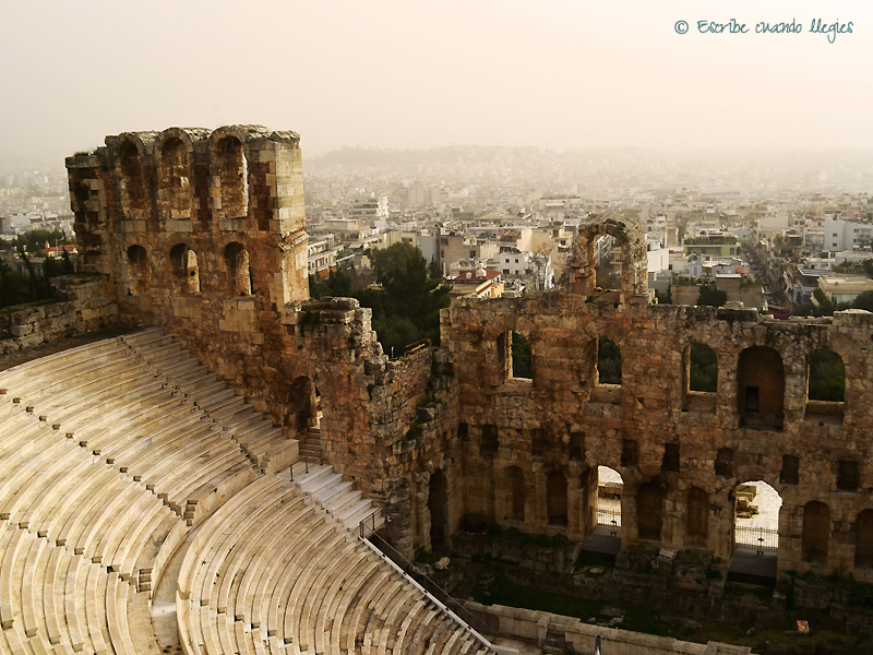 Vista parcial del Odeón de Herodes Ático