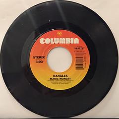 BANGLES:MANIC MONDAY(RECORD SIDE-A)