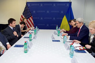 Secretary Kerry and Ukrainian Foreign Minister Klimkin Sit Down for a Bilateral Meeting in Belgrade