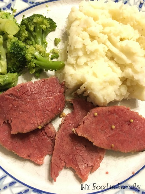 Corned Beef, Mashed Potatoes and Veggies