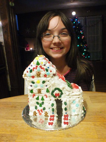 Julia and her gingerbread house