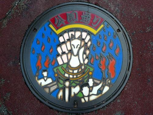 Yudaonsen Yamaguchi city Yamaguchi pref, manhole cover 11 (山口県山口市湯田温泉のマンホール11)