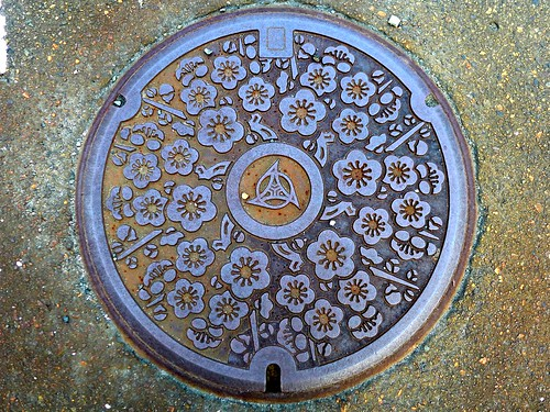 Itoigawa Nigata, manhole cover 2 (新潟県糸魚川市のマンホール2)