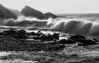 Rough Manx Sea, Glen Maye, Isle of Man