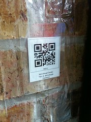 just some qr on the wall ...