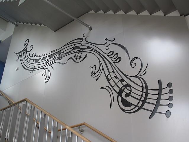 Sound mural. Highgate Junior School, London.