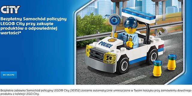 Bezpłatny Samochód policyjny LEGO City