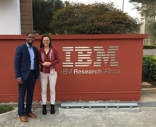 Solomon and Sophie at IBM Research - Africa