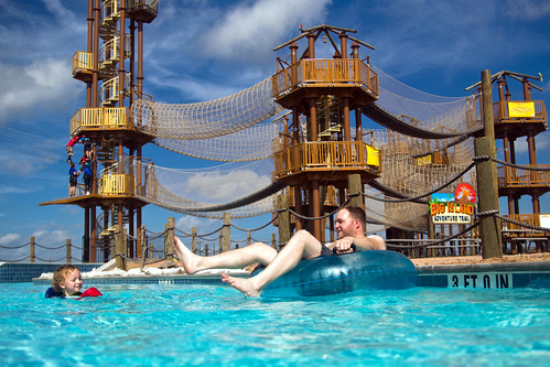 Floating in the Lazy River Hawaiian Falls Pflugerville