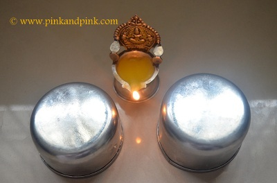 Lit diya - How to make kajal at home