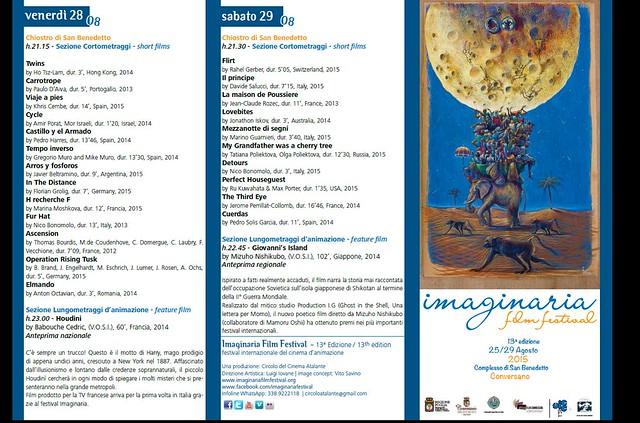 Conversano- Programma Imaginaria Film Festival