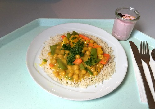 Zesty chickpea curry / Pikantes Kichererbsencurry