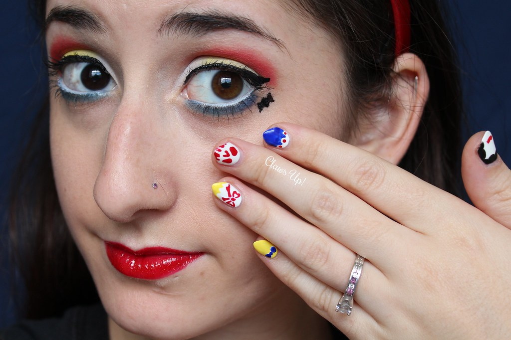 Disney princess Snow White makeup look and Snow White nail art