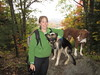 Leah and the Dogs On Wright's Moutain by amyboemig