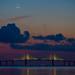 Dusk and Moon by bdh_photos