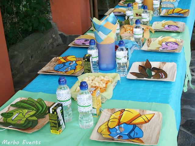 mesa cumpleaños gormiti Merbo Events