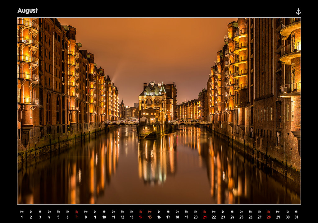 kalender2016_HAMBURG 2016 - FROM DUSK TILL DAWN - KALENDER // AUGUST