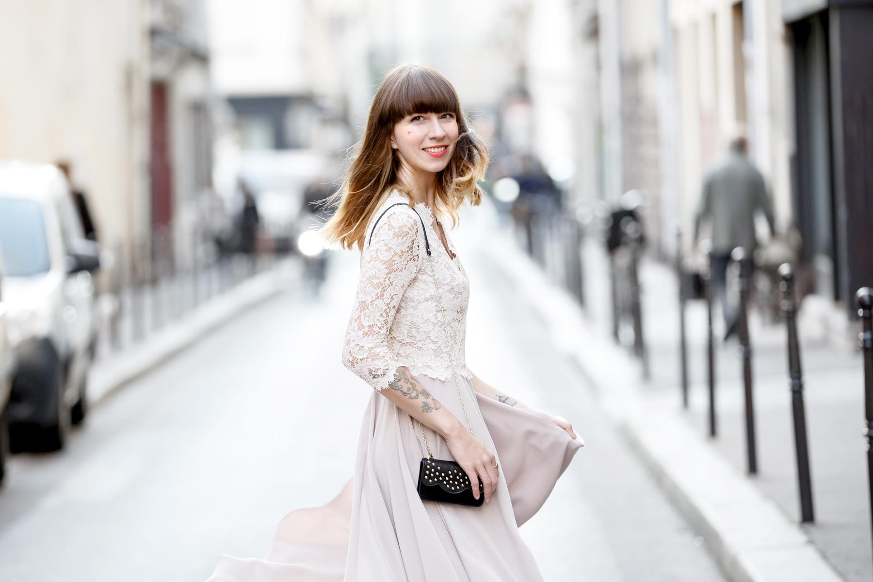 ewa herzog lace dress pastel rose paris le marais pfw fashion week ss16 ricarda schernus cats & dogs blog 2