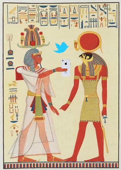 Pharaoh Merneptah Shares a Tweet with Horus, after Cherubini