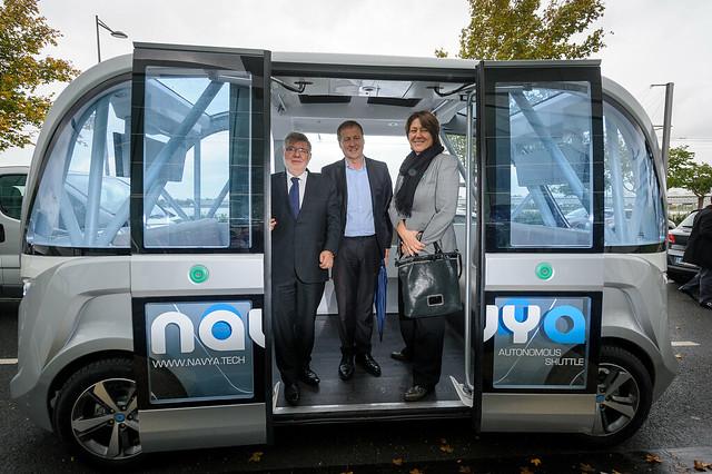 Ouverture du Congrès mondial des systèmes de transports intelligents (Intelligent Transport Systems - ITS) en présence d'Alain Vidalies