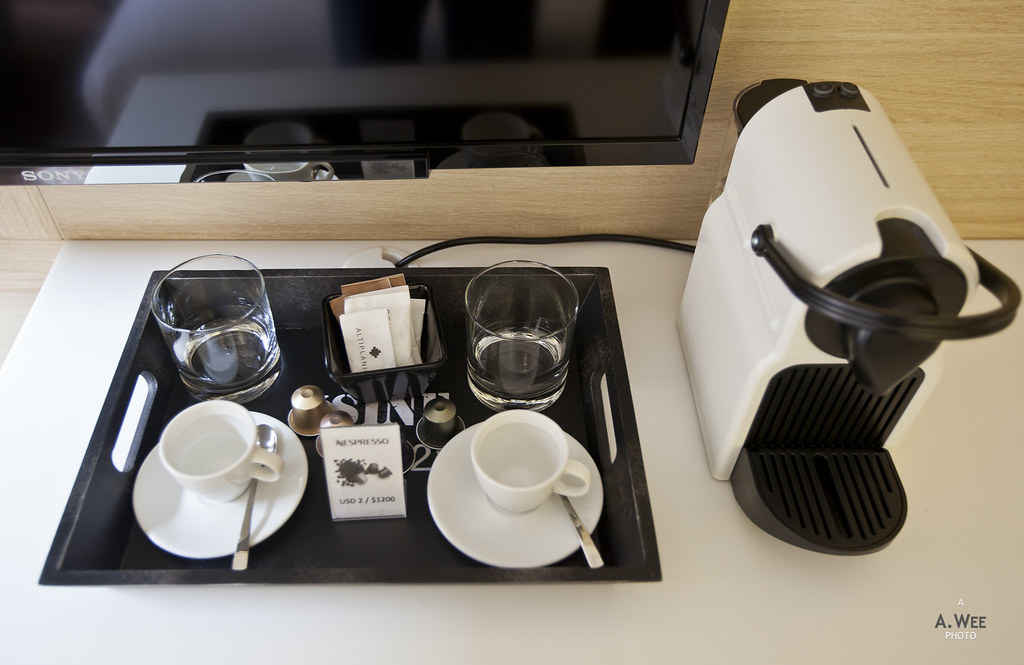 Nespresso machine in room