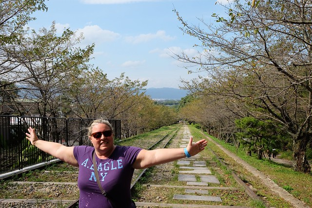 Claire at the Keage Incline