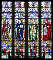 Archbishop Lanfranc, St Dunstan, St Anselm, Stephen Langton by Gerald Smith for AK Nicholson, 1950
