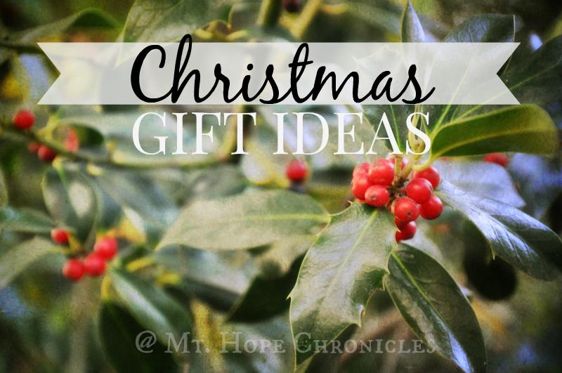 Christmas Gift Ideas @ Mt. Hope Chronicles