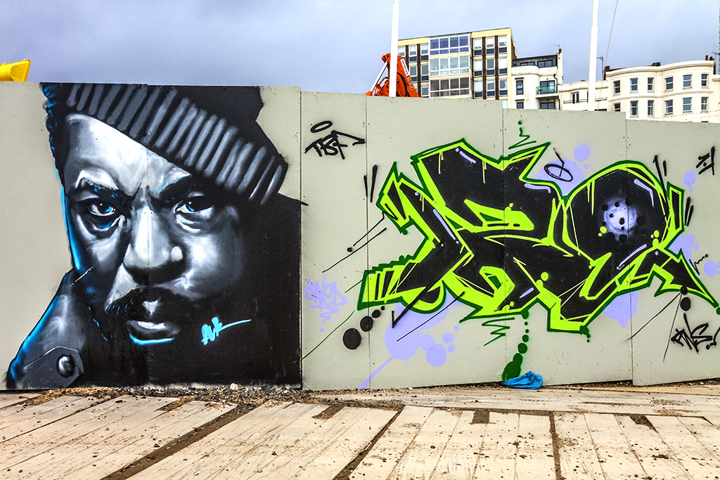 Black man's face--Brighton